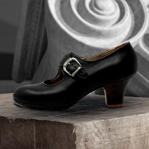 Lola 39,5 AA+PR Leather Negro Carrete 5 Visto