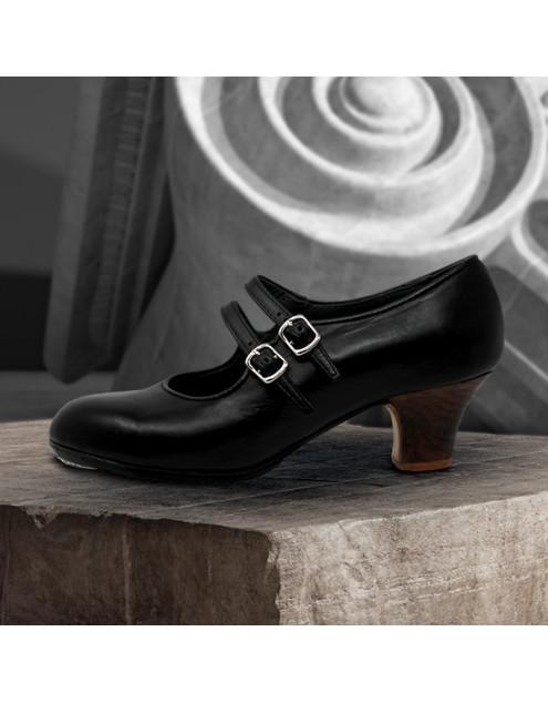Manuela 39 A+PR Leather Negro Carrete 5 Visto