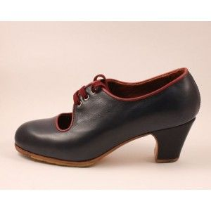 Carmen 34 A Leather Navy Clásico 5 Forrado Ribete Burdeos